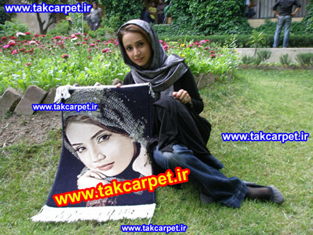شبنم قلی خانی تابلو فرش